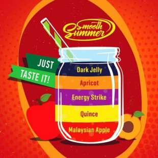 Big Mouth Smooth Summer: Malaysian Apple - Quince - Energy Strike - Apricot - Dark Jelly foto 1