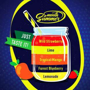 Big Mouth Smooth Summer: Lemonade - Forest Blueberry - Tropical Mango - Lime - Wild Strawberry foto 1