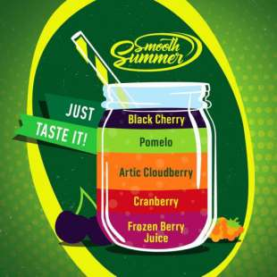Big Mouth Smooth Summer: Frozen Berry Juice - Cranberry - Artic Cloudberry - Pomelo - Black Cherry foto 1